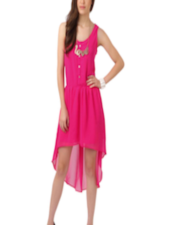 Buy Femella Front Ruffle Top For Women: Buy Femella Women Pink Dress