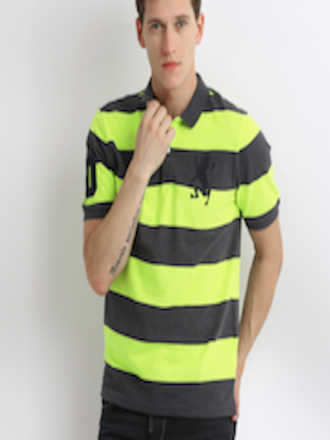Grey And Lime Green Polo Shirts Rockwall Auction