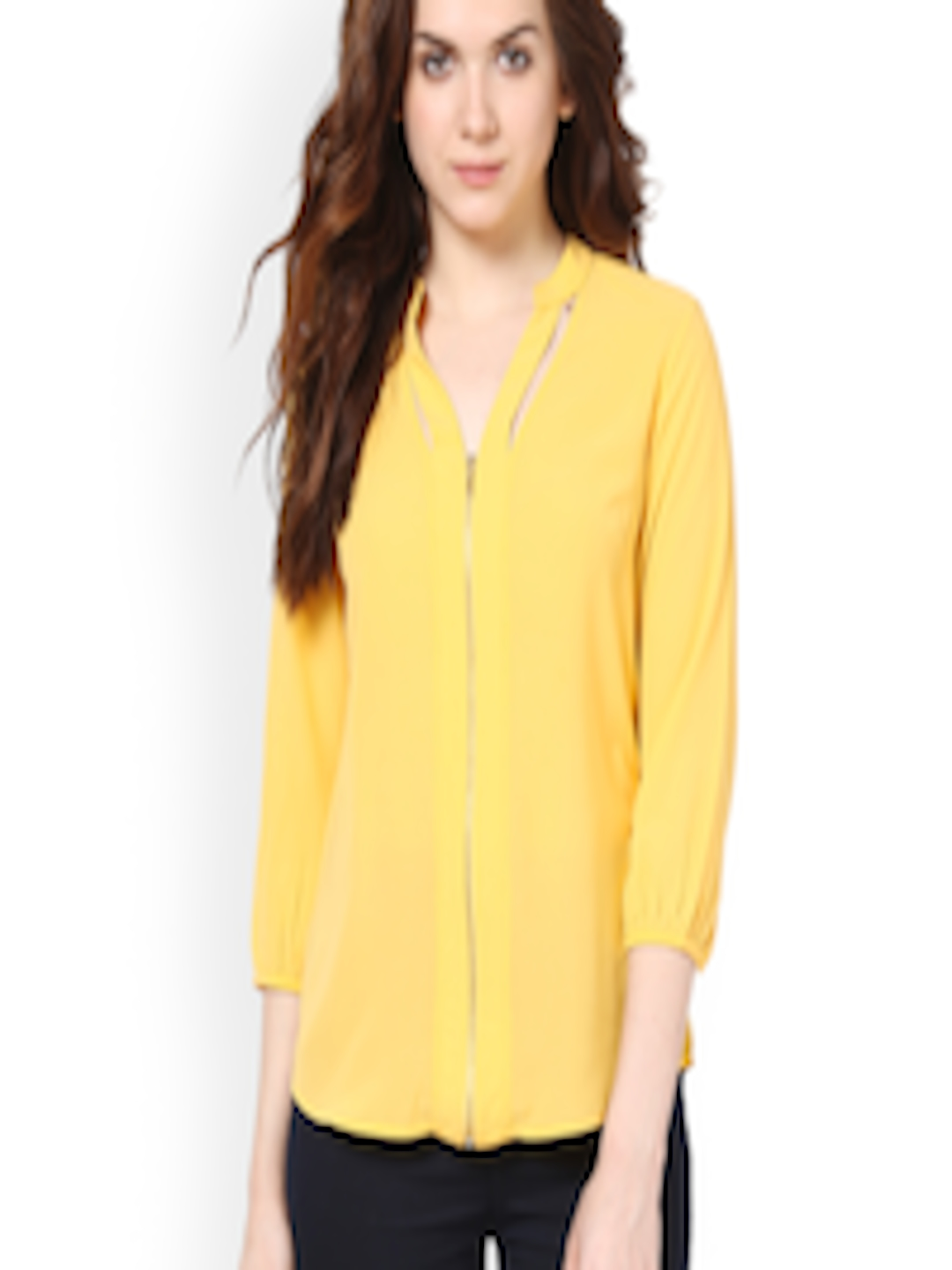2b74af315dd8f5 Buy Harpa Women Yellow Top - Tops for Women 531025