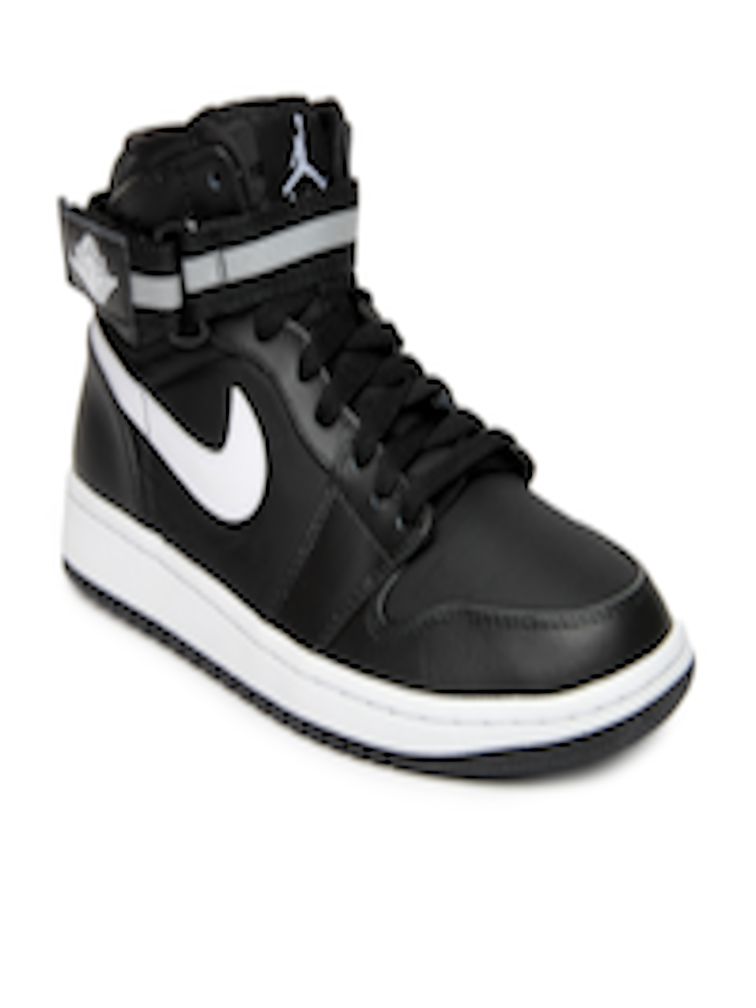 hot sale online 2060f 5a8bb Buy Nike Men Black Air Jordan 1 High Strap Basketball Shoes - Sports Shoes  for Men 613076   Myntra