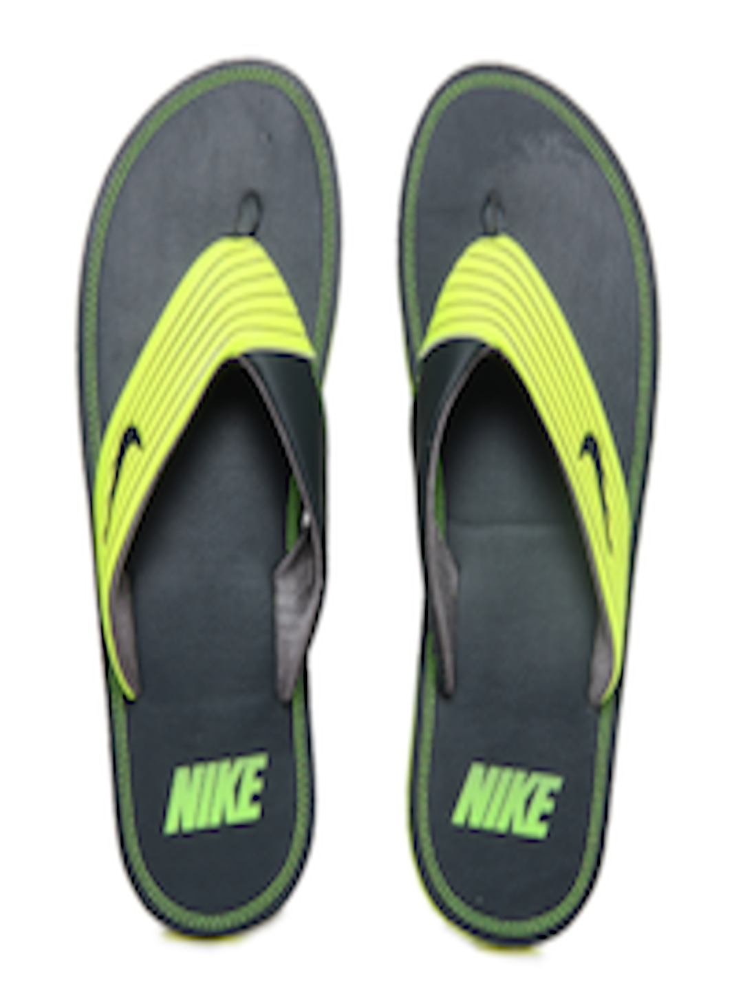 60bc739acff1 Buy Nike Men Neon Green   Grey Chroma Thong III Flip Flops - Flip Flops for  Men 233709
