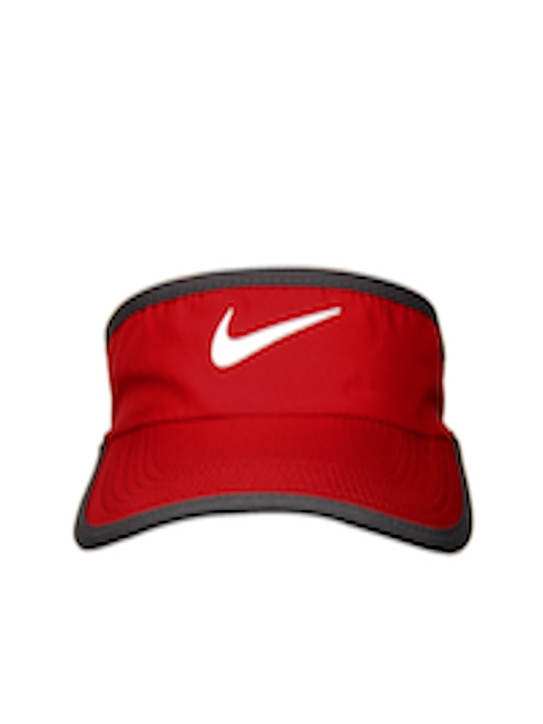 2d465dafb13a19 Buy Nike Red & Grey Ws Feather Light Visor Tennis Caps - Caps for Unisex  487653 | Myntra