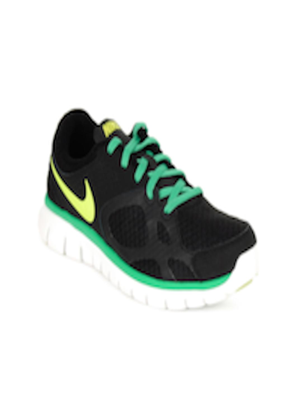buy nike women black nike flex 2012 running shoes sports