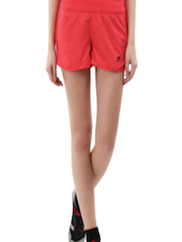 Buy Nike Women Red Tempo Running Shorts - Shorts for Women ...