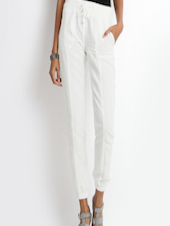 87ef347655 Buy ONLY Women White Linen Blend Trousers - Trousers for Women 257211