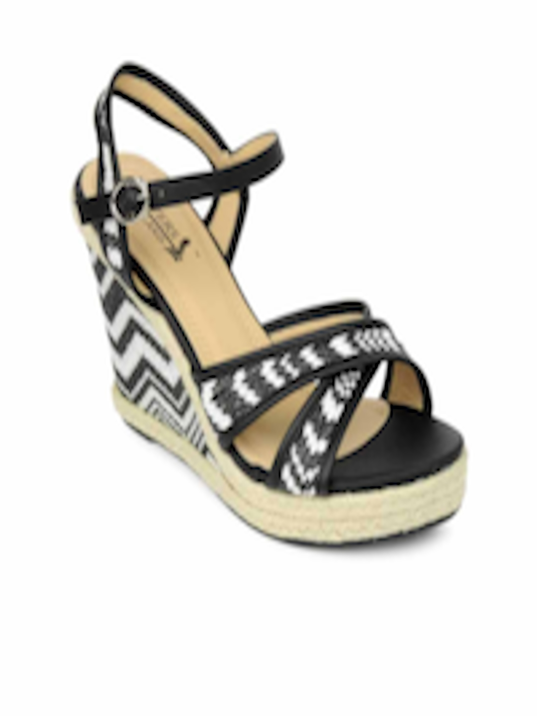 3bd10b9bb9f5 Buy Pavers England Women Black   White Wedges - Heels for Women 130502