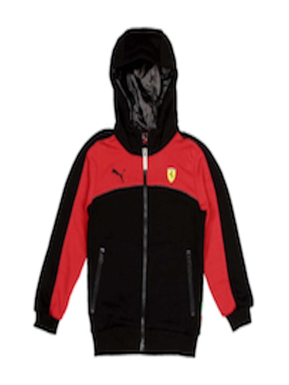96f22b8a Buy Puma Boys Black & Red Scuderia Ferrari Hooded Sweatshirt - - Apparel  for Boys