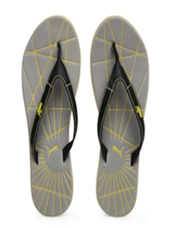 1f724bf3df9 ... Buy Puma Men Black Grey Webster Flip Flops - Flip Flops for Men 162144  Myntra the ...