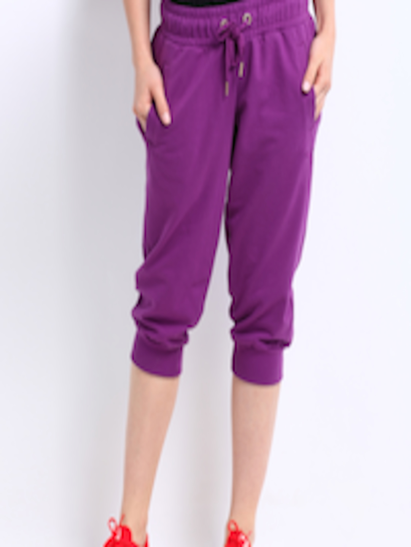 Buy Puma Women Purple Capri Sweat Pants Shorts For Women