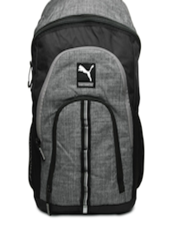 Buy Puma Unisex Grey   Black Foundation Duo Backpack - Backpacks for Unisex  372176  9768f62661003