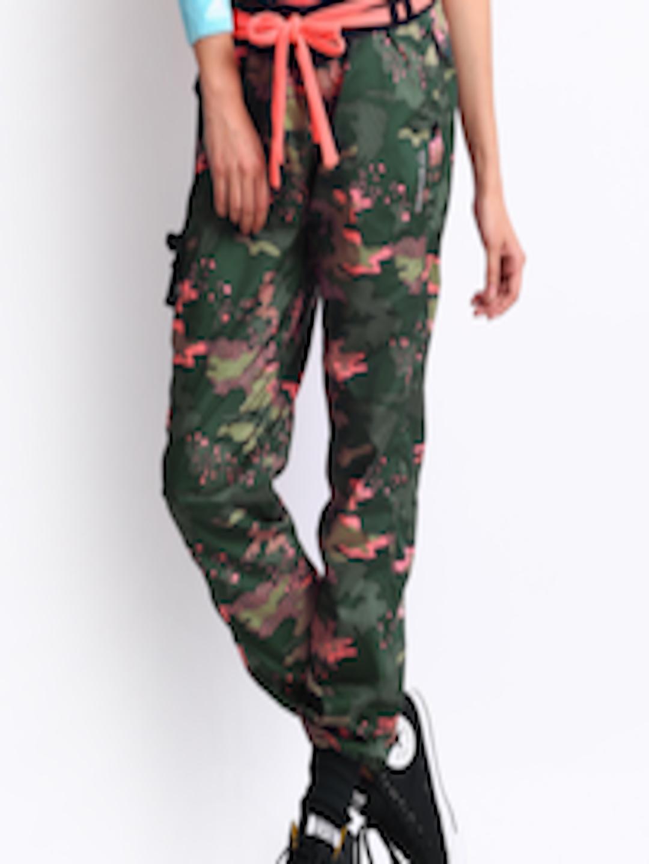 Buy Reebok Women Green Camouflage Print Track Pants -5148