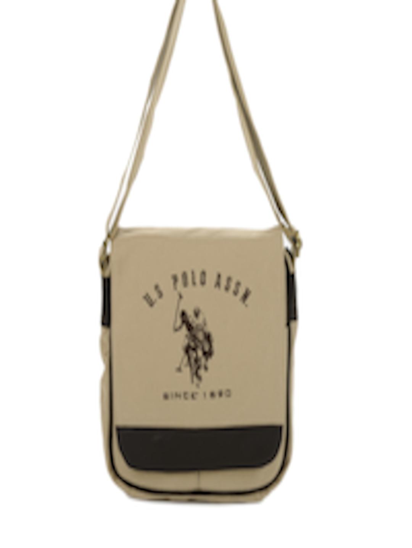 6db48cf409 Buy U.S. Polo Assn. Men Khaki Sling Bag - Handbags for Men 87852 ...