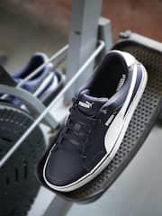 PUMA Men Navy Court Point Suede Sneakers