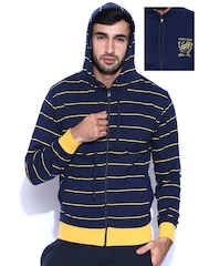 Sports52 Wear Navy & Yellow Reversible Hooded Sweatshirt