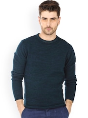Basics Teal Green Muscle Fit Sweater