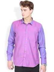 Orange Valley Purple & Pink Slim Fit Casual Shirt