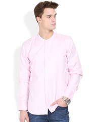 Orange Valley Pink Slim Fit Casual Shirt