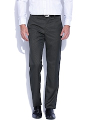 Four One Oh Charcoal Grey Slim Formal Trousers