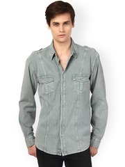 Oxolloxo Grey Classic Fit Casual Shirt