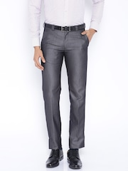 Four One Oh Grey Slim Formal Trousers