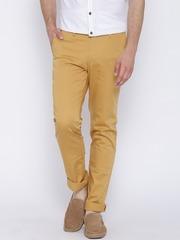 John Players Mustard Yellow Slim Casual Trousers