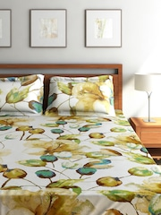 SEJ by Nisha Gupta Multicoloured Cotton Double Bedsheet with 2 Pillow Covers