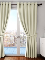 SWAYAM Cream Coloured Single Blackout Long Door Curtain