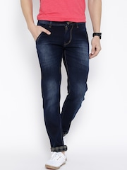 Rodamo Navy Washed Slim Jeans