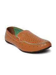 Duke Men Tan Brown Loafers
