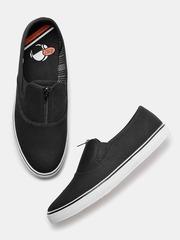 Kook N Keech Men Black Solid Slip-On Sneakers
