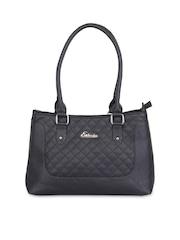 Esbeda Black Quilted Shoulder Bag