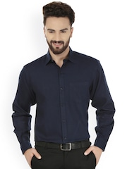 Navy Blue Formal Shirt - Buy Navy Blue Formal Shirt online in India