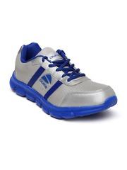 Duke Men Silver-Toned Running Shoes