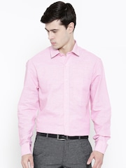 John Players Men Stripes Pink Shirt - Buy John Players Men Stripes ...