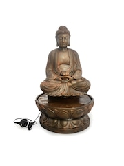 Fountain buy indoor water fountains online in india myntra athome by nilkamal brown buddha on lotus indoor water fountain workwithnaturefo