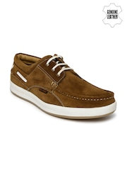 Red Chief Men Brown Suede Sneakers