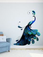 DeStudio Blue Peacock Wall Sticker
