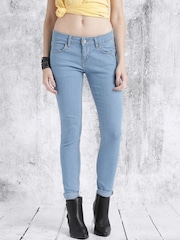 Roadster Women Blue Mid-Rise Clean Look Jeans Get upto 60% off on Jeans