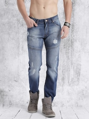 Roadster Men Blue Slim Fit Mid Rise Mildly Distressed Jeans