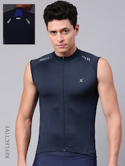 HRX by Hrithik Roshan Men Navy Blue Solid Cycling Jacket