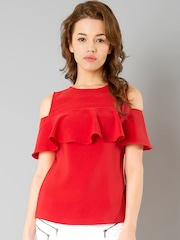 9b0a59e7acc Women Red Top - Buy Women Red Top online in India