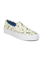 vans shoes for girls white. vans women off-white printed slip-on sneakers shoes for girls white