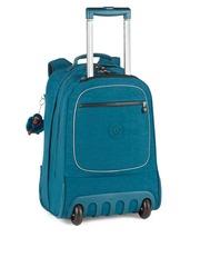 Kipling Kids Teal Blue Cabin Trolley Backpack