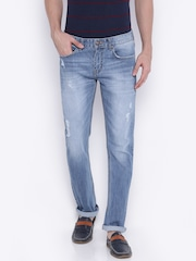 American Crew Men Blue Straight Fit Jeans