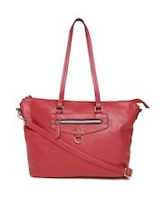 Lavie Red Solid Shoulder Bag with Sling Strap
