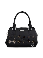 Daphne Black Shoulder Bag with Sling Strap