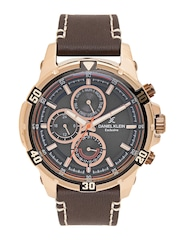 watches for men buy men s watches online in myntra daniel klein exclusive men brown mutifunction watch dk11247 2