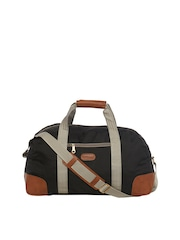 Bags.R.us Unisex Black Foldable Duffel Bag with Shoulder Strap