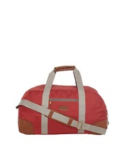 Bags.R.us Unisex Rust Red Foldable Duffel Bag with Shoulder Strap