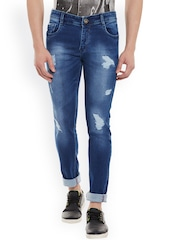 Rodamo Men Blue Slim Fit Mildly Distressed Stretchable Jeans